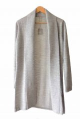 Classic fine knitted loose fit cardigan in luxurious ultra soft baby alpaca, grey