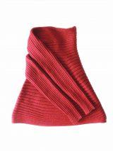 PFL, Full knitted open cardigan model Keyla in a soft alpaca blend, red