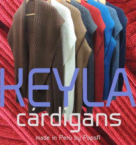 PFL chaqueta de punto abierta, modelo Keyla en alpaca (mezcla)