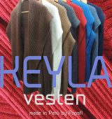 PFL open vest model KEYLA in Alpaca (blend)