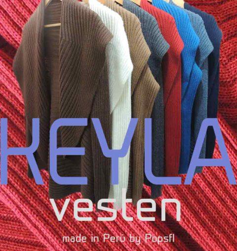 PFL open vest model KEYLA in Alpaca (blend)