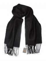 PFL classic scarf black, baby alpaca