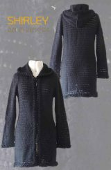 Cardigan Shirley, black in suri alpaca