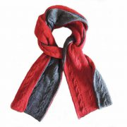 PopsFL knitwear wholesale manufactor Double knitted, reversible scarf
