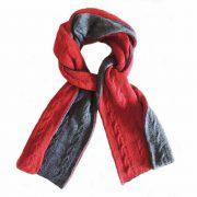 PopsFL knitwear wholesale manufactor Double knitted, reversible scarf