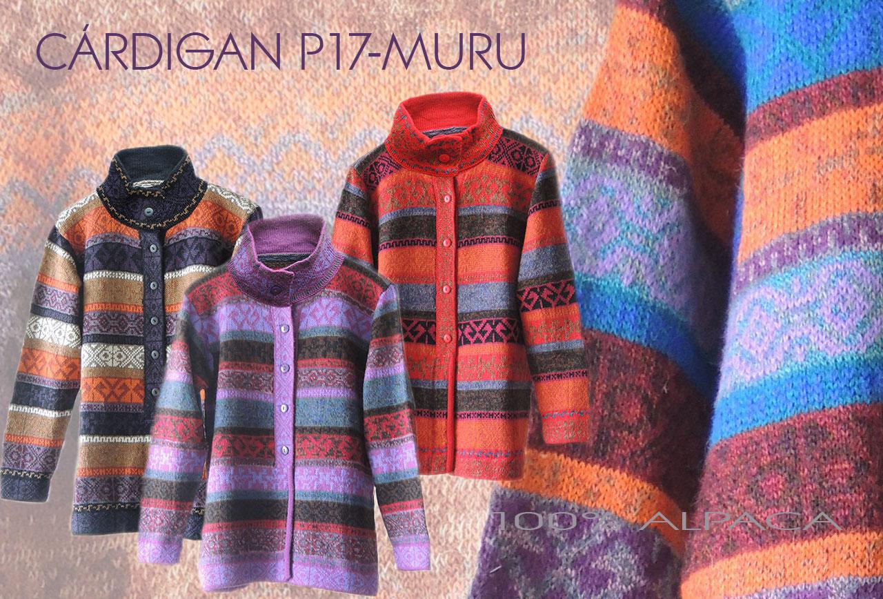 Cárdigans P17 MURU multicolor en alpaca