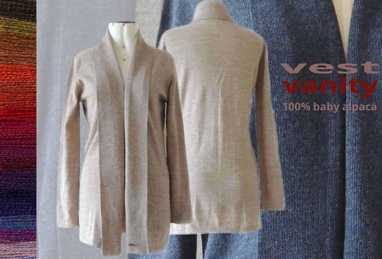PFL vest Vanity 100% baby alpaca