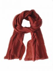 Scarf soft and comfortable, red in baby alpaca.