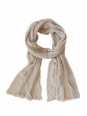 Scarf soft and comfortable, beige in baby alpaca.