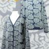 PFL knits 001-01-2059 cardigan jacquard flowers