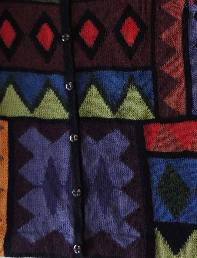 artificial intarsia knitted