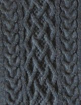 with cable pattern and round neck