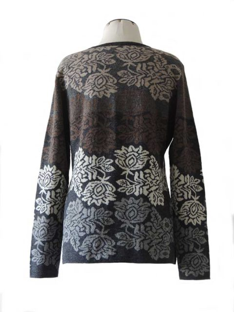 cardigan Georgina grey dark multi