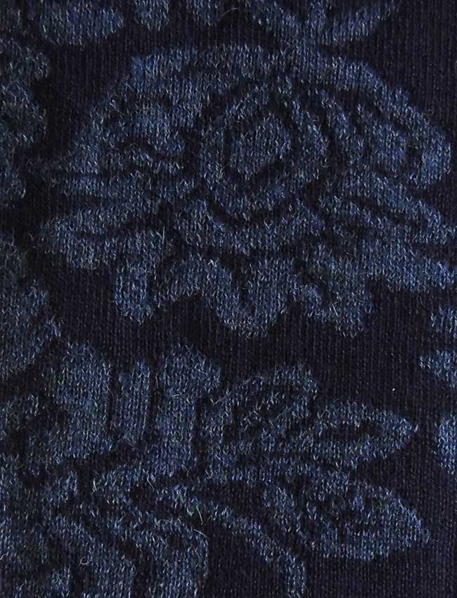 two color design with flower pattern