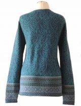 cardigan Naomie blue-multi  with pattern