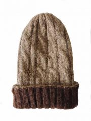 hand knitted beanie reversible