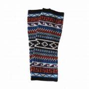 001-21-1016 PFL knitwear, wrist warmers jacquard knitted