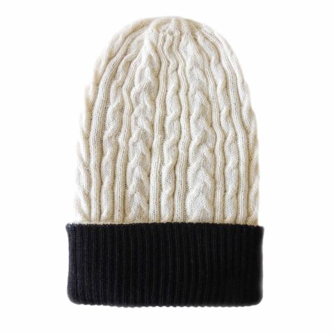 PopsFl knitwear producer wholesale PFL knitwear, beanie reversible two colors, unisex