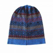 beanie multicolor graphic stripe design baby alpaca lightweight 60 grams