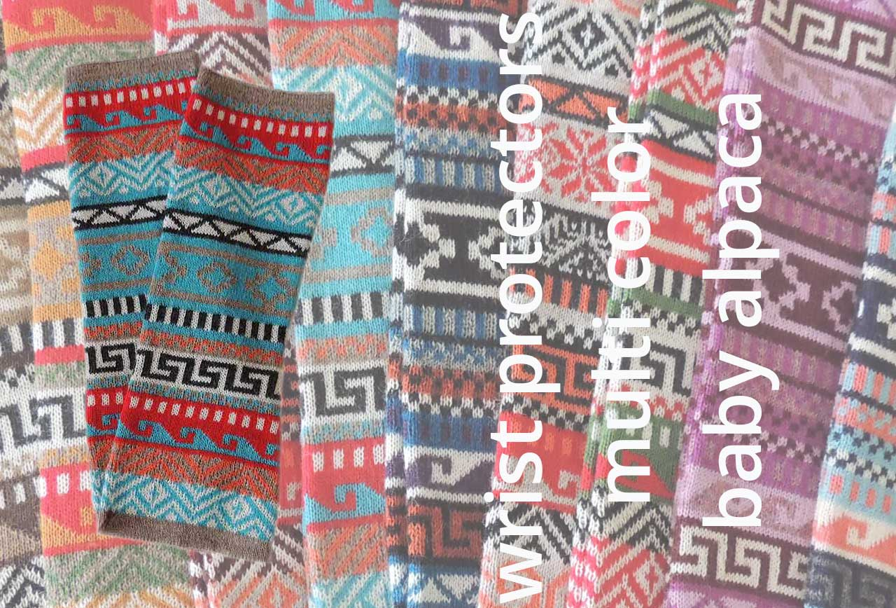 PopsFL.com Wholesale wrist protectors jacquard knitted, 100% baby alpaca