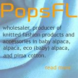 PopsFL wholesaler,producer of knitted fashion products and accessories in alpaca and pima cotton