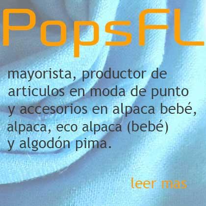 PopsFL, mayorista, productor de moda de punto en alpaca, alpaca bebé