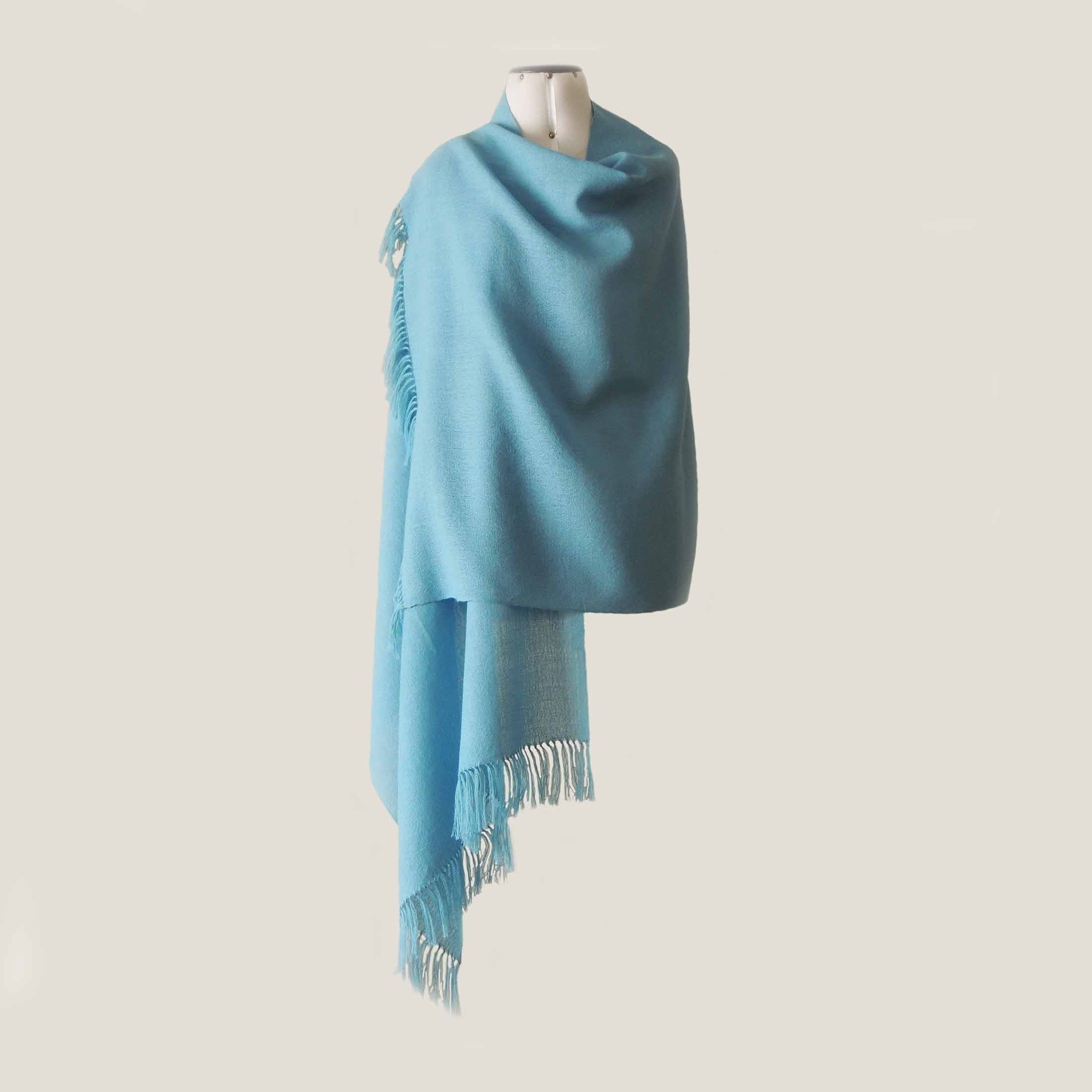 Popsfl Peru wholesale manufactor handwovenHandwoven shawl, baby alpaca solid color