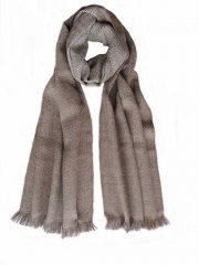 PFL Knitwear scarf with herringbone pattern 100% baby alpaca