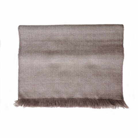 PopsFL Peru wholesale manufactor Handwoven Scarf with herringbone pattern, baby alpaca with fringes.