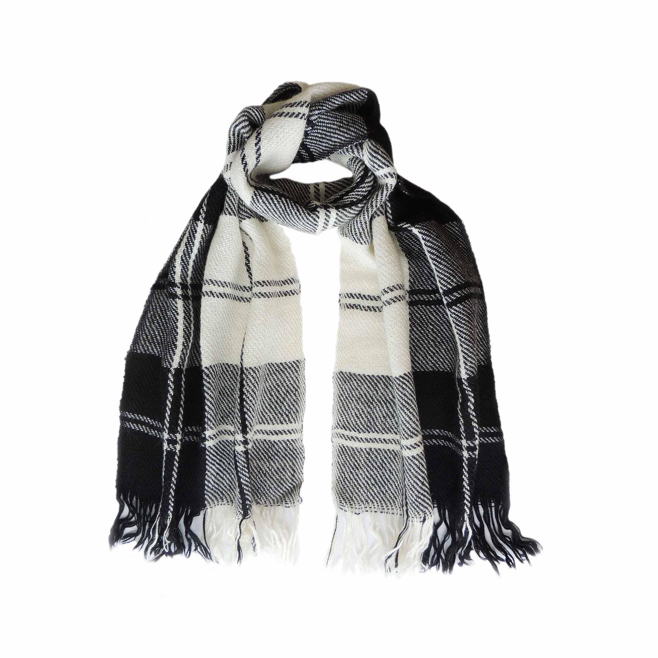 001-11-2038-01 Popsfl wholesale producer Scarf, black white plaid pattern