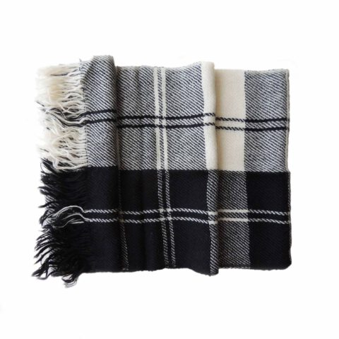 001-11-2038-01 Popsfl wholesale producer Scarf, black white plaid pattern