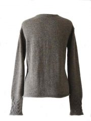 PFL knitwear, sweater Angee, with cable pattern and round neck, 100% alpaca.