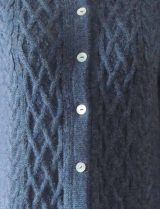 PFL knitwear, cardigan Angee, with cable pattern, button closure and round neck, 100% baby alpaca.