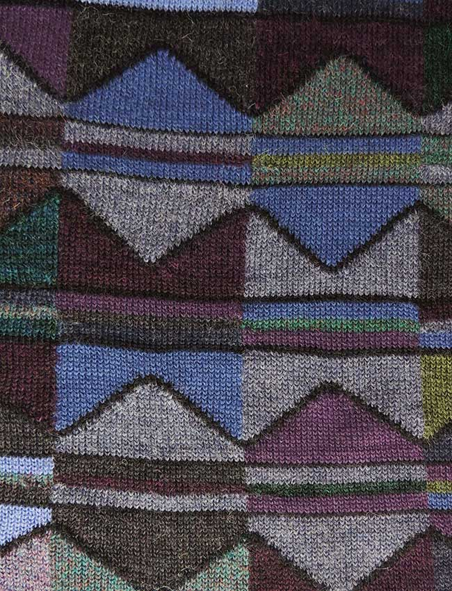 Ruana cape with graphic pattern multi color