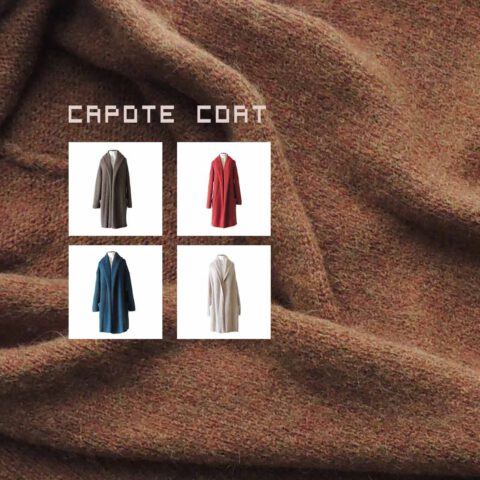 Wholesale capote coat alpaca cardigan oversized alpaca cardigan