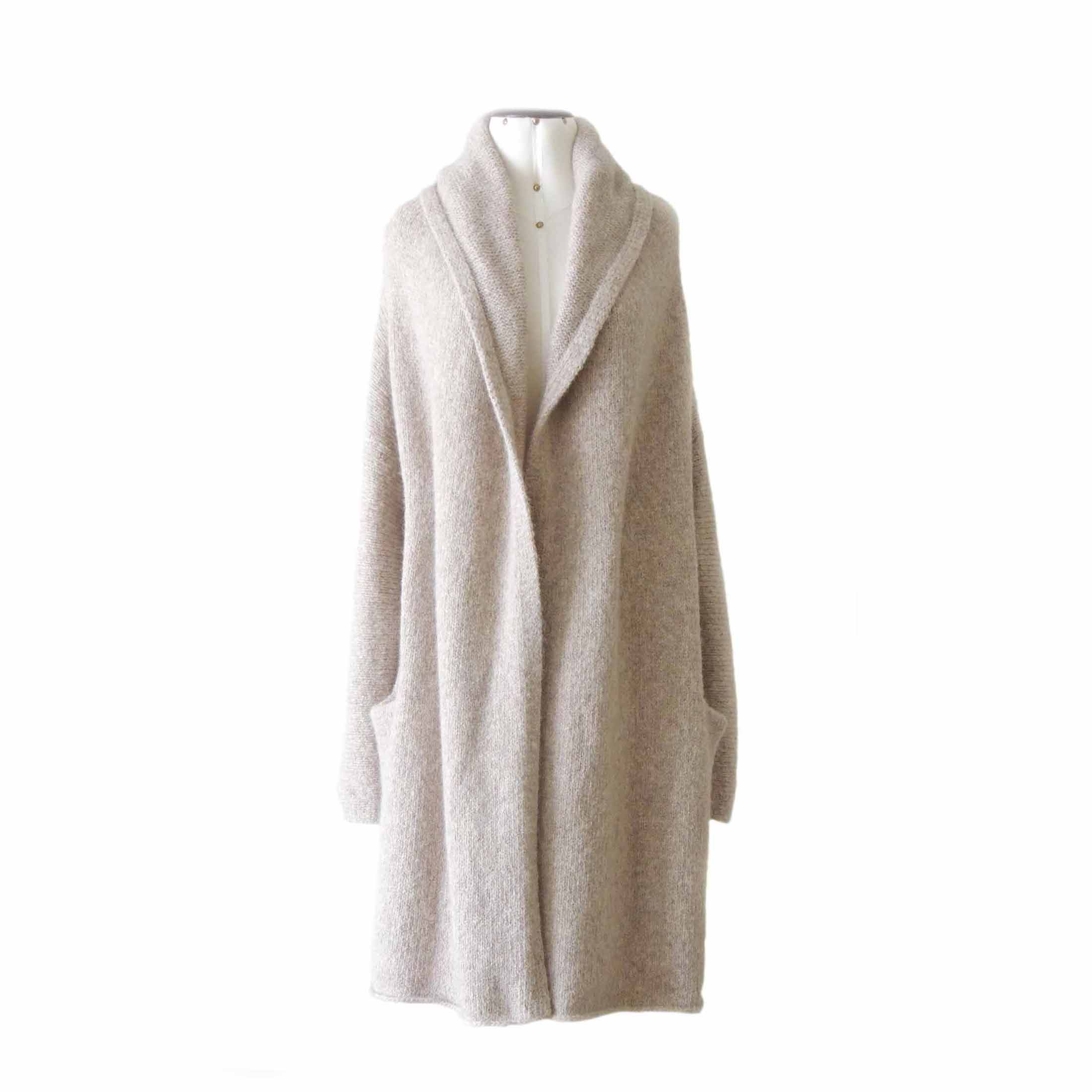 Wholesale: Capote coat, casual oversized cardigan felted alpaca blend
