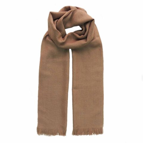 PopsFL Peru wholesale manufactor Handwoven scarf solid color baby alpaca