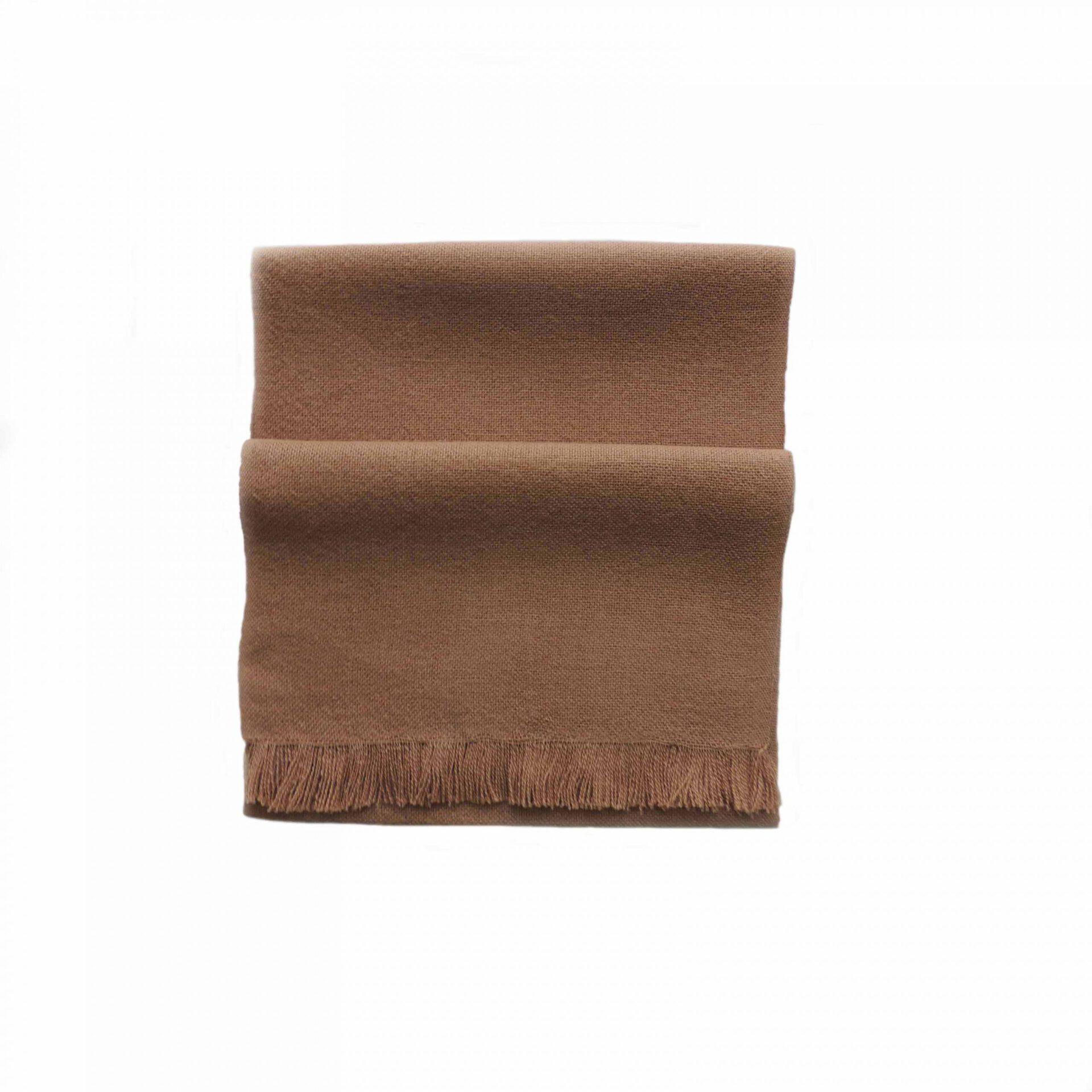PopsFL Peru wholesale manufactor Handwoven scarf solid color baby alpaca