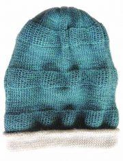 PopsFL knitwear Peru wholesale producer PFL knitwear beanie reversible two colors with relief pattern.