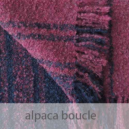 PopsFL knitwear Peru wholesale manufactor handwoven shawls, scarves in alpaca boucle