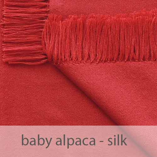 PopsFL Peru wholesale manufactor handwoven shawls , scarves in baby alpaca silk blend