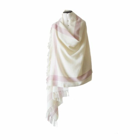 PopsFL knitwear Peru wholesale manufactor handwoven shawl - stole baby alpaca striped two colors