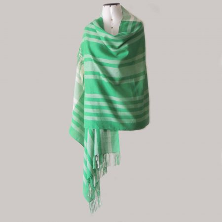 PopsFL knitwear Peru wholesale manufactor handwoven scarf pima cotton striped two colors