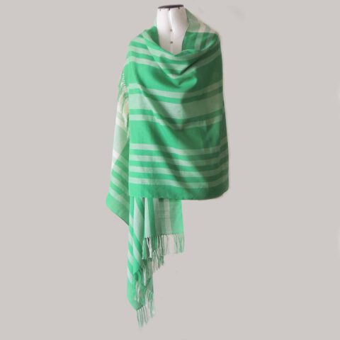 PopsFL knitwear Peru wholesale manufactor handwoven scarf pima cotton striped two colors