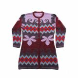 PopsFL Wholesale Intarsia knitting collection women's cardigan alpaca