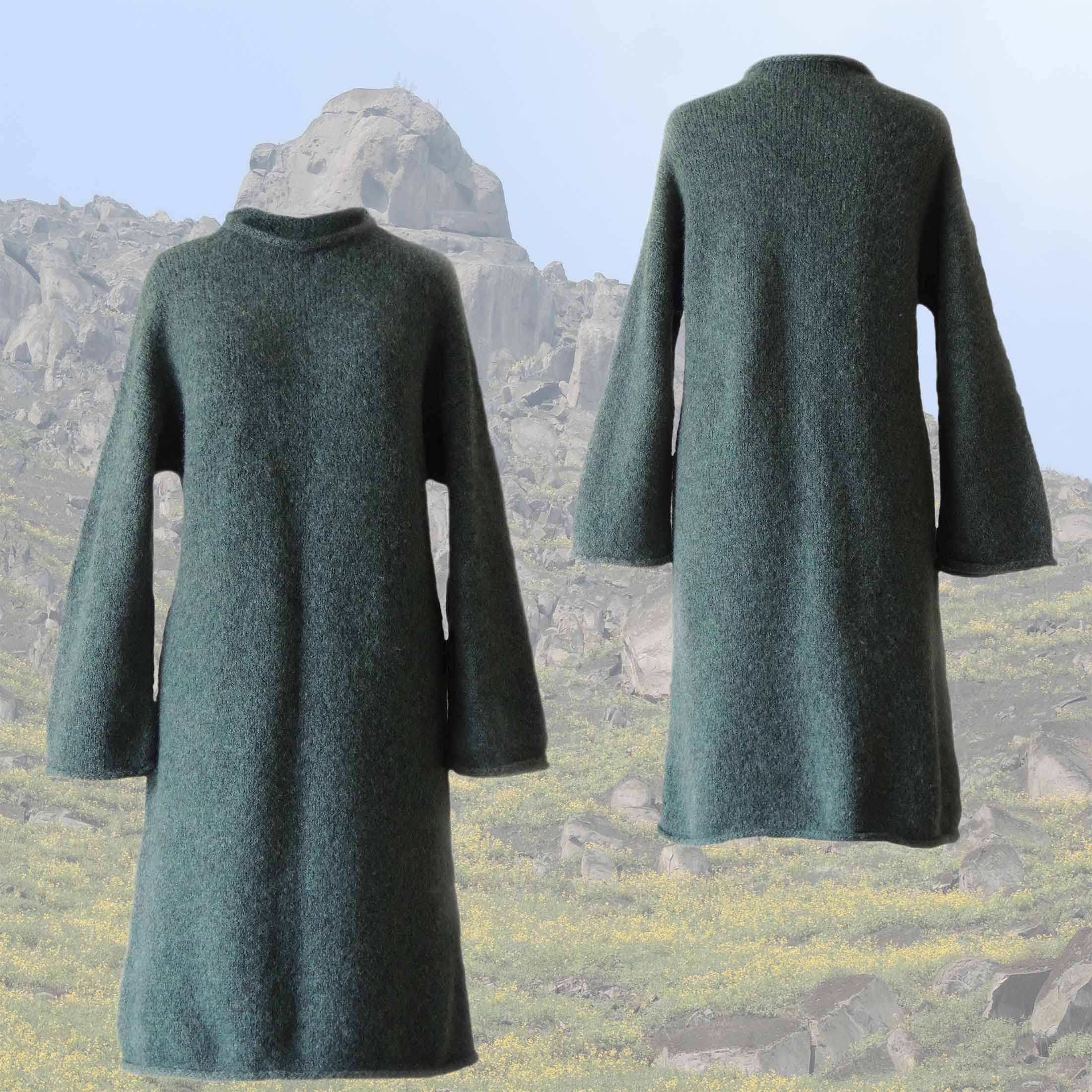 PopsFL Wholesale felted alpaca blend knitted dress