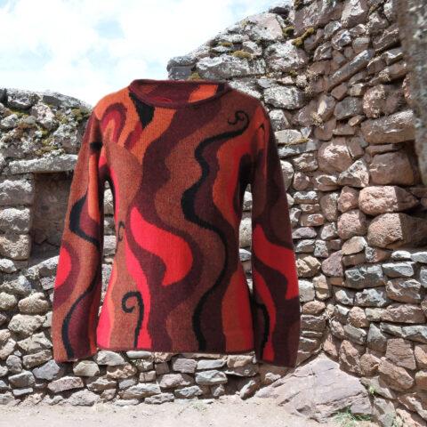 PopsFL knitwear women sweater intarsi knitted 100% alpaca