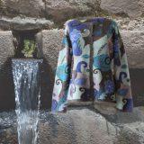 PopsFL knitwear women cardigan intarsi knitted 100% alpaca