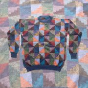 PopsFL knitwear men sweater intarsia knitted 100% alpaca