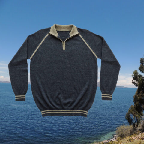 PopsFL men sweater 100% baby alpaca